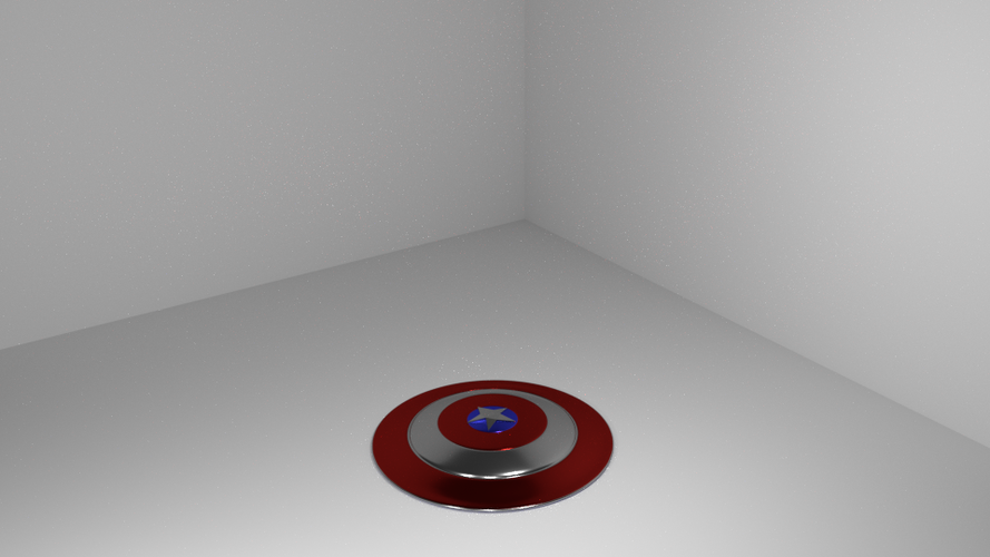 Captain America's shield  3D Print 108564