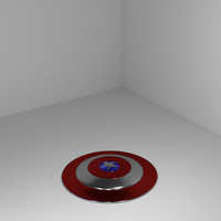 Small Captain America's shield  3D Printing 108564