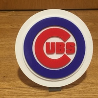 Small Chicago Cubs Logo 3D Printing 108622