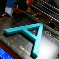 Small Letter A 3D Printing 108652