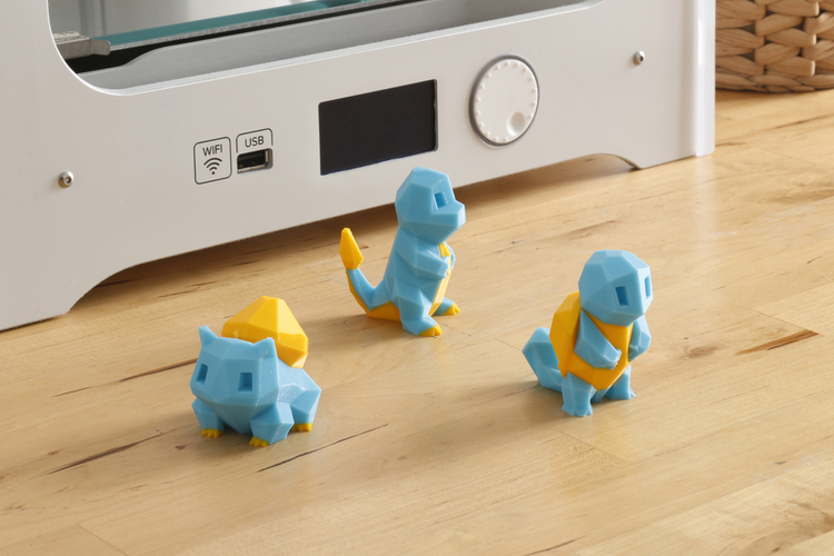 Low-Poly Pikachu  - Multi and Dual Extrusion version 3D Print 108676