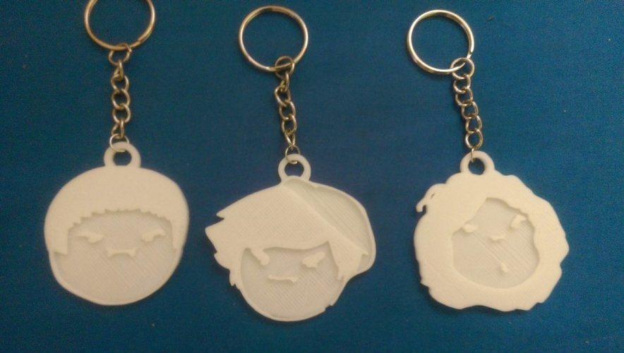 Game Grumps Keychains 3D Print 108754