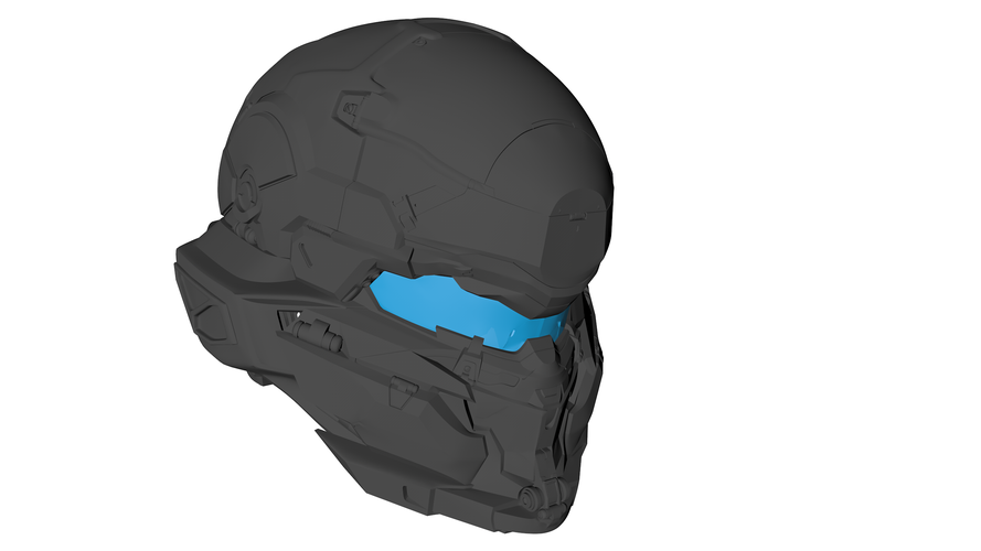 Halo 5 Hunter Helmet 3D Print 108757