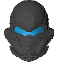 Small Halo 5 Hunter Helmet 3D Printing 108758