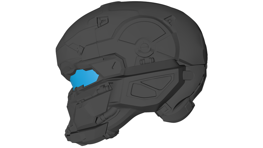 Halo 5 Hunter Helmet 3D Print 108759