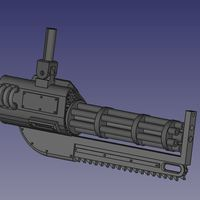 Small Chainsaw Gun inspired by Warhammer 3D Printing 108760