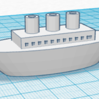 Small Small Model Boat 3D Printing 108793