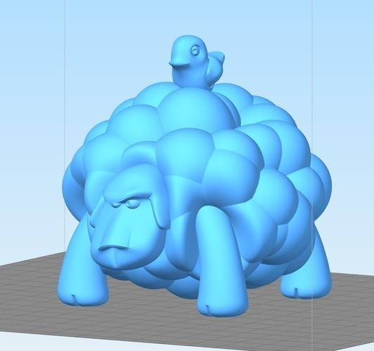 Angry Sheep 3D Print 108835