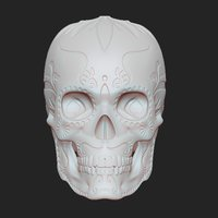 Small SUGAR SKULL (UPDATED) Added new file 12-1-16 3D Printing 108851