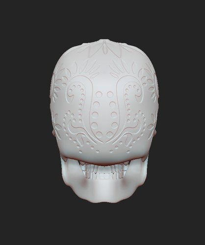SUGAR SKULL (UPDATED) Added new file 12-1-16 3D Print 108852