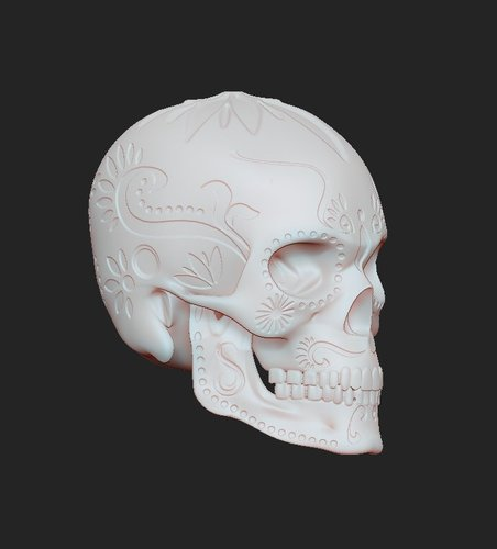 SUGAR SKULL (UPDATED) Added new file 12-1-16 3D Print 108853