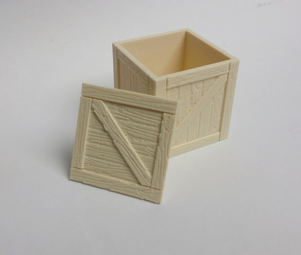 Wooden crate / box 3D Print 108953