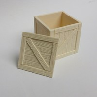 Small Wooden crate / box 3D Printing 108953