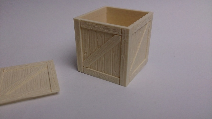 Wooden crate / box 3D Print 108954