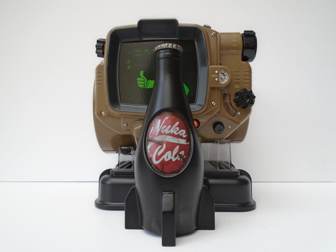 3d printed fallout 4 nuka cola bottle by jaegerino pinshape