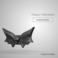 Small Halloween Bat Bow Tie 3D Printing 109022