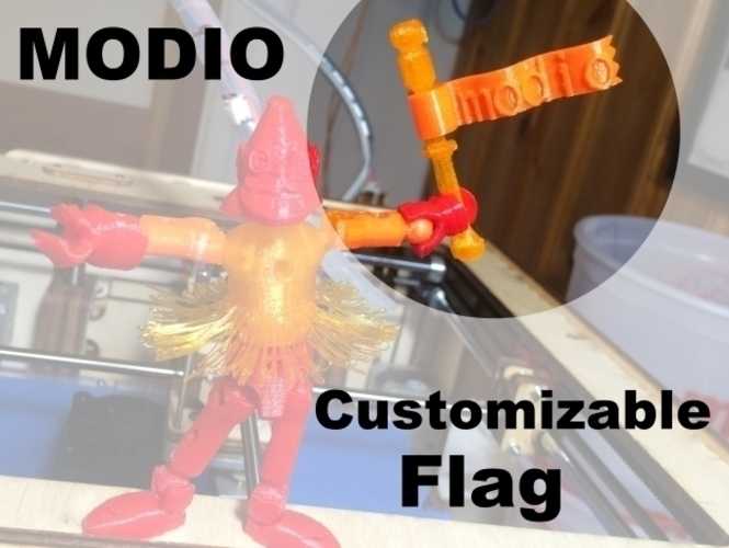 modio - customizable Flag!  3D Print 109141