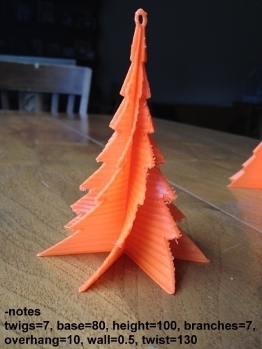 Christmas Tree with Branches- Customizer version 3D Print 109191