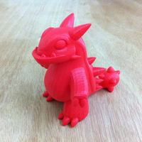Small Genetic Mix Dinosaur 3D Printing 10921