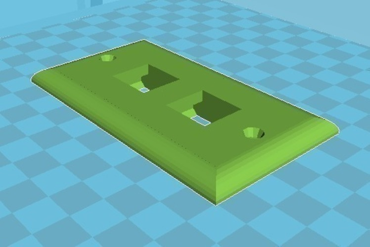 small as possible two Jack face plate 3D Print 109215