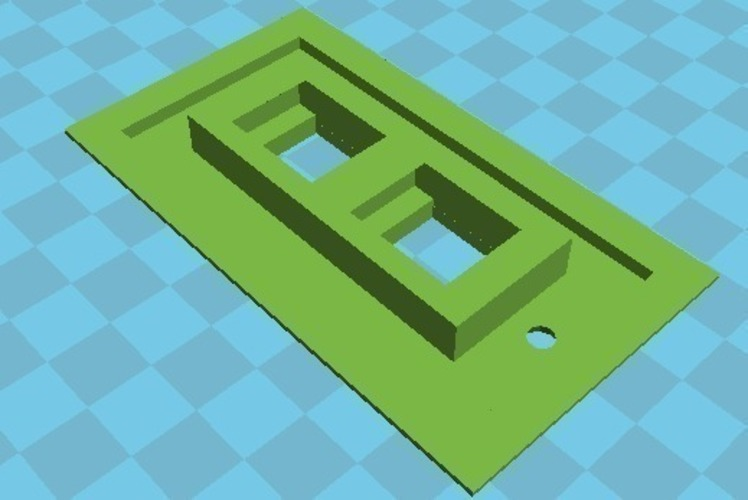 small as possible two Jack face plate 3D Print 109216
