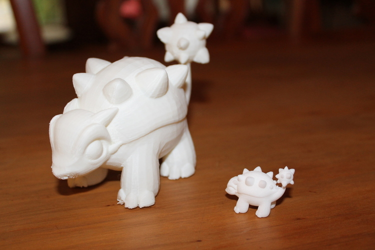 Two Dinosaurs without support 3D Print 10929