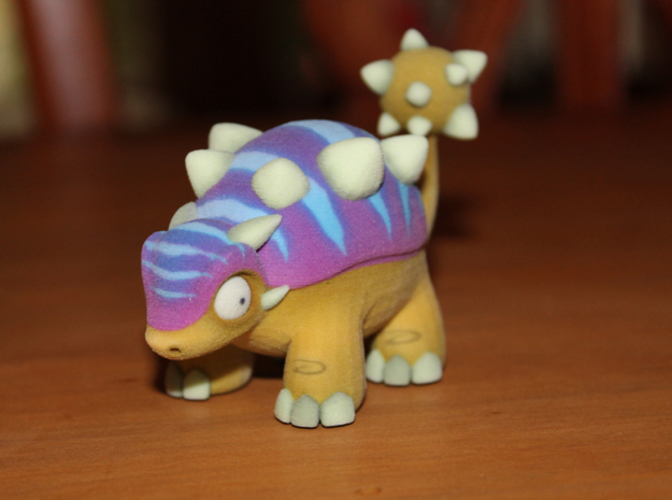 Two Dinosaurs without support 3D Print 10931