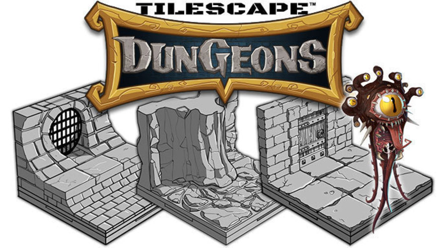 picture relating to 3d Printable Terrain titled Tilescape™ DUNGEONS Modular Terrain Pattern Pack