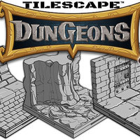 Small Tilescape™ DUNGEONS Modular Terrain Sample Pack 3D Printing 109402