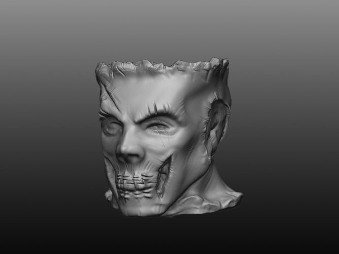 Zombie Head Candy Holder 3D Print 109410