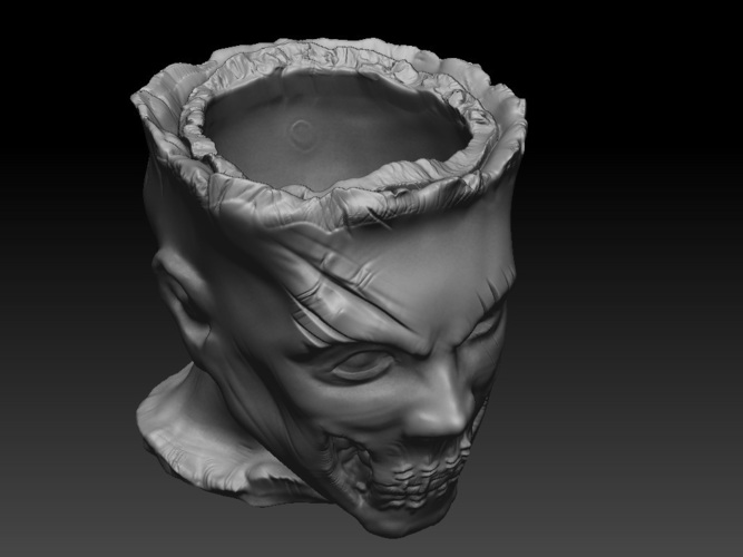 Zombie Head Candy Holder 3D Print 109411
