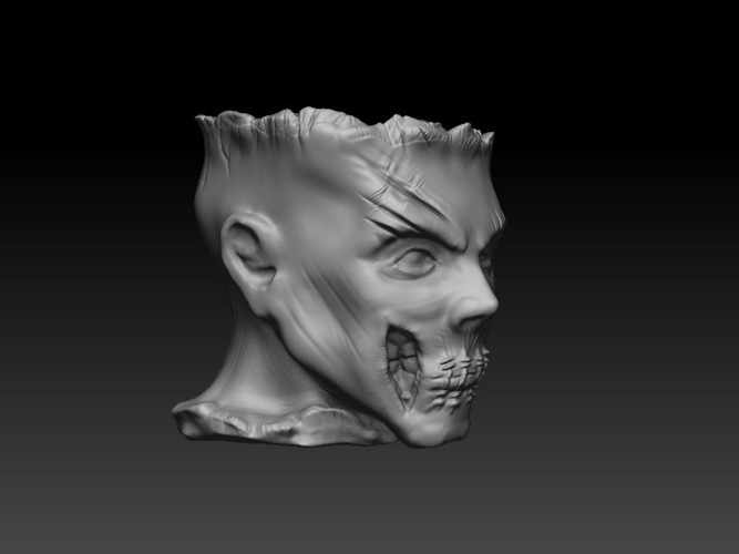 Zombie Head Candy Holder 3D Print 109412