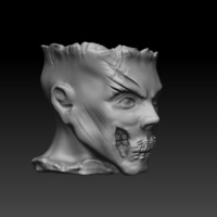 Small Zombie Head Candy Holder 3D Printing 109412