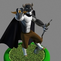 Small Mr. Hærry Tauren Pose 1 3D Printing 109629