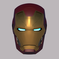 Small Iron Man Mk-46 Helmet (Civil War) 3D Printing 109692