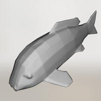 Small Low Poly Koi Fish 3D Printing 109710