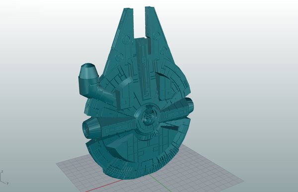 Medium Millenium Falcon 3D Printing 109712