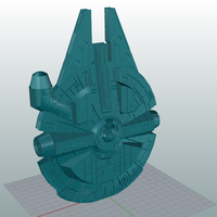 Small Millenium Falcon 3D Printing 109712