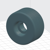 Small 54 mm Skateboard Wheel 3D Printing 109714