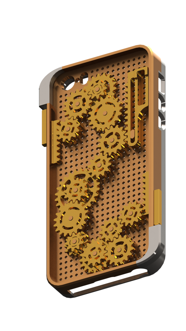 Medium Gears iPhone 5/5s/SE Case 3D Printing 109752
