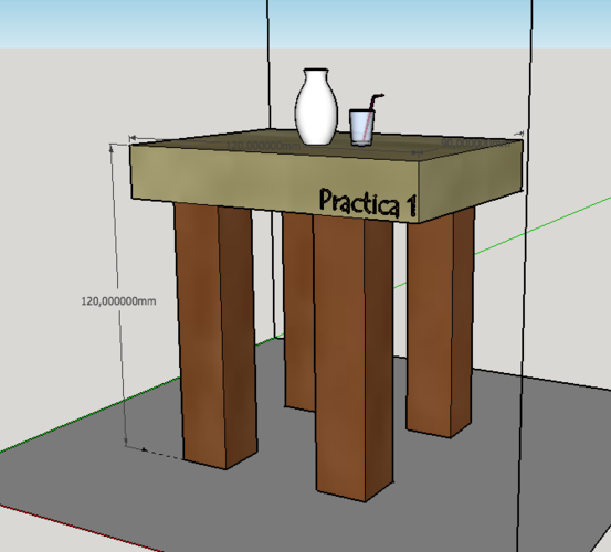 Table Wood 3D Print 109758