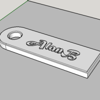 Small Keychain AlanB 3D Printing 109759