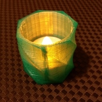Small LED tea light candle holder 3D Printing 109961