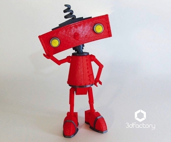 Medium Bad Robot - 3dPrintable - 3dFactory Brasil 3D Printing 110035