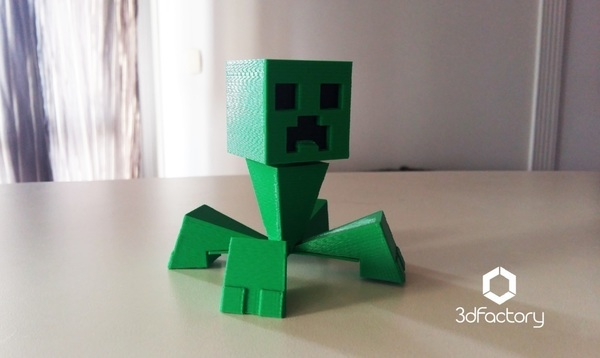 Medium Minecraft Creeper - 3dPrintable - 3dFactory Brasil 3D Printing 110042