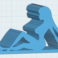 Small Mud Flap Girl iPhone stand 3D Printing 110066