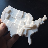 Small United States by Type 2 Diabetes (2015) 3D Printing 110108