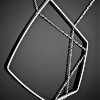 "Small Pendant ""Ultra Modern"" 3D Printing 110143"