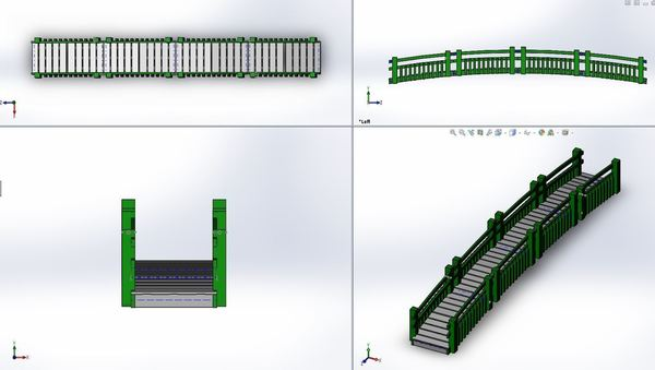 Medium Garden Walk Bridge 3D Printing 110155