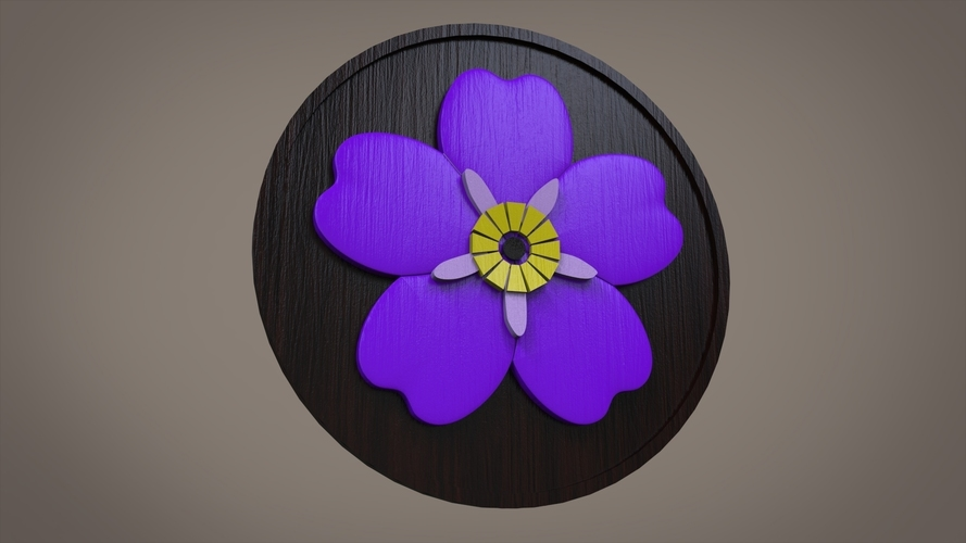 Forget Me Not Flower 3D Print 110177